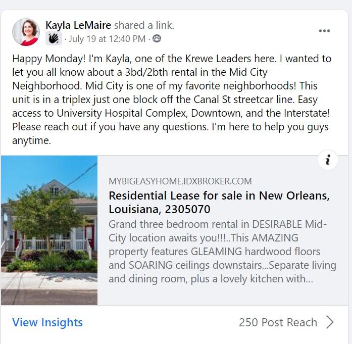 FB PROMOTIONS KREWE LEADER