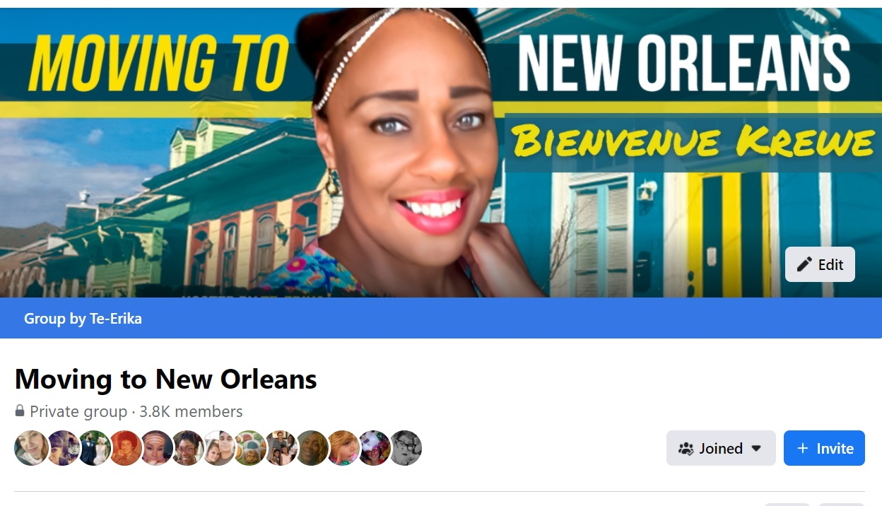 Moving To New Orleans Facebook Group PICTURE